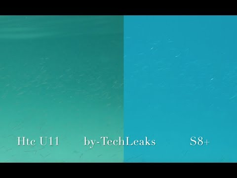 HTC U11 vs GALAXY S8+ UNDER WATER CAMERA TEST