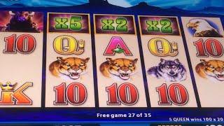 5X2X2 Buffalo Deluxe Win on .50 Cent Bet at Chumash Casino