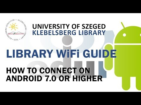 Wifi – University of Szeged Klebelsberg Library