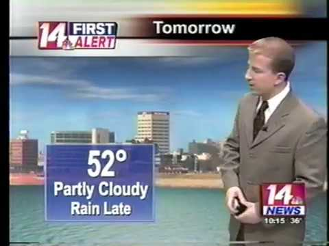 WFIE-14, Evansville, IN, December 23, 2016, 10pm newscast, Chad Sewich weather segment