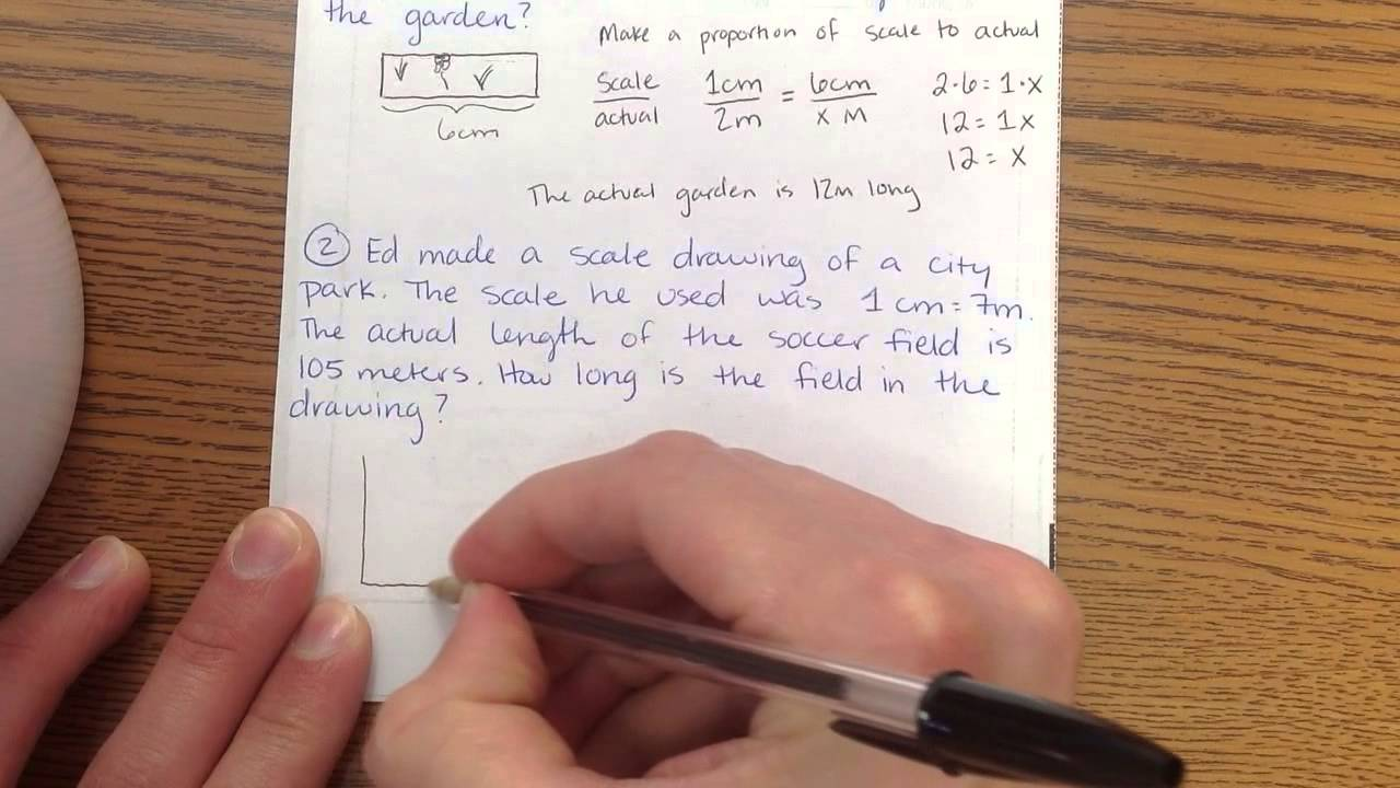 small resolution of Scale Drawing Word Problems - YouTube
