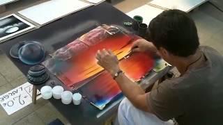 Рисование баллончиками. Техника под названием spray paint(Красивое рисование балончиками. Космический рисунок на глазах сделанный балончиками краски. Рисование..., 2015-03-27T16:48:38.000Z)