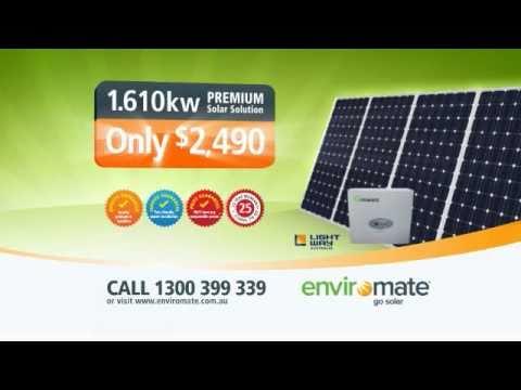 Enviromate 1.61kW Unbeatable Solar Electricity Deal