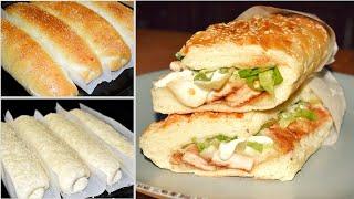ساندويش دجاج تشيكن ساب/خبزة الصب مارين للفاهيتا والفيلادلفيا والساندويشات Chicken Sub Sandwich