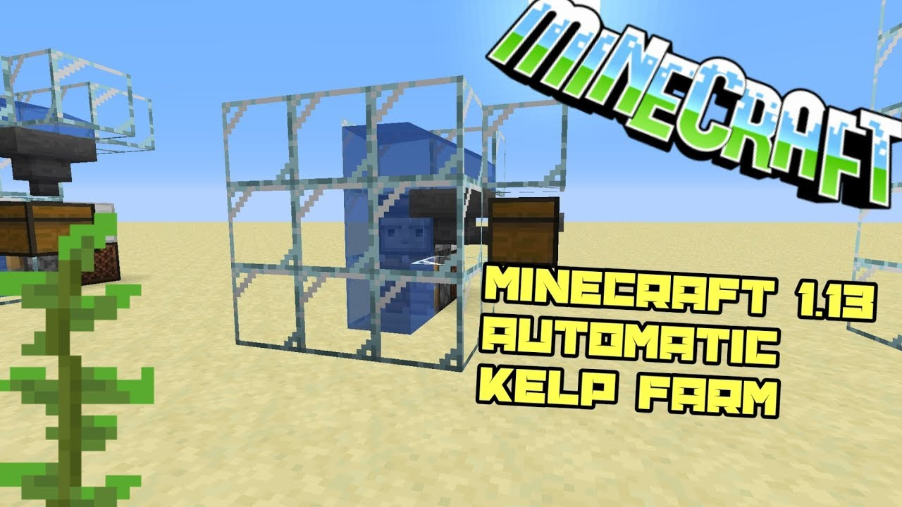 Minecraft 113 Small Automatic Kelp Farm Robinking Youtube