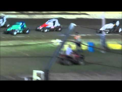 Creek County Speedway Non-Wing Champ Sprints Heat #3 9/20/14