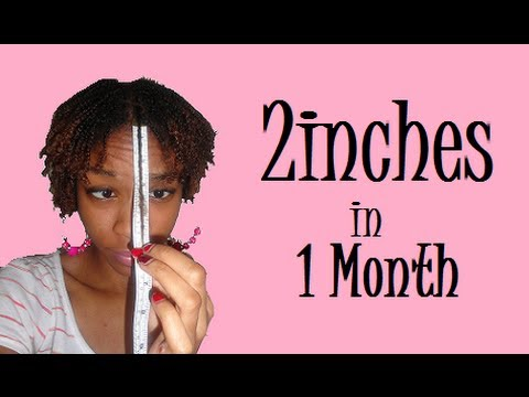 2 Inches In One Month Castor Oil Challenge 1st Length