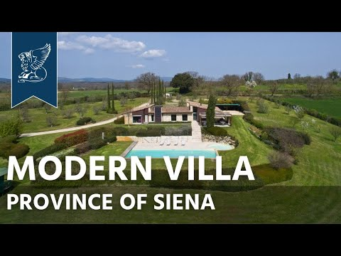 Modern villa for sale in the province of Siena | Tuscany, Italy - Ref. 3901