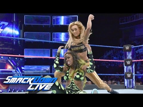 WWE Smackdown Live 10/11/16 Carmella Vs Naomi ( Nikki Bella Attacks Carmella )