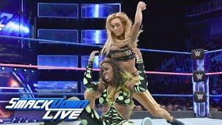 WWE Smackdown Live 10/11/16 Carmella vs Naomi ( Nikki Bella attacks Carmella )