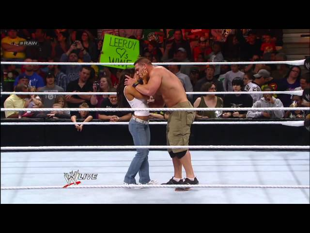 AJ kisses John Cena Travel Video