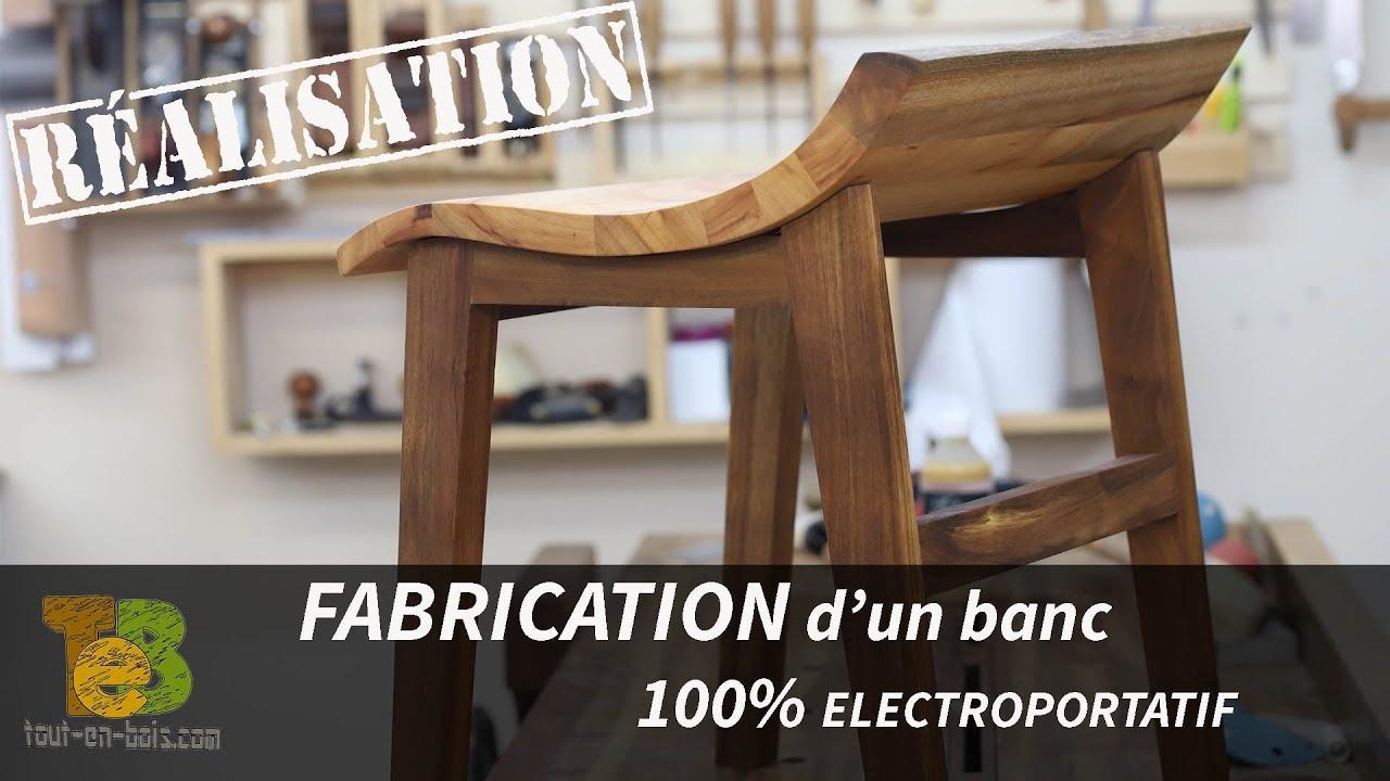 Fabriquer Un Banc D Angle travail du bois- fabrication d'un banc design 100% Électroportatif.
