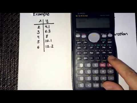Correlation coefficient (r) & coefficient of determination (r^2) using the calculator (CASIO fx-991)