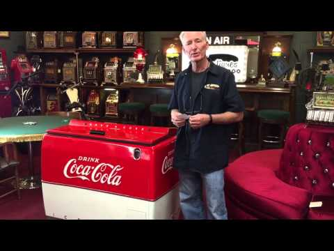 Coca-Cola Coke Westinghouse WE6 cooler box for sale - YouTube