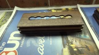 Custom Nixie Tube Clock American Black Walnut Wooden Box