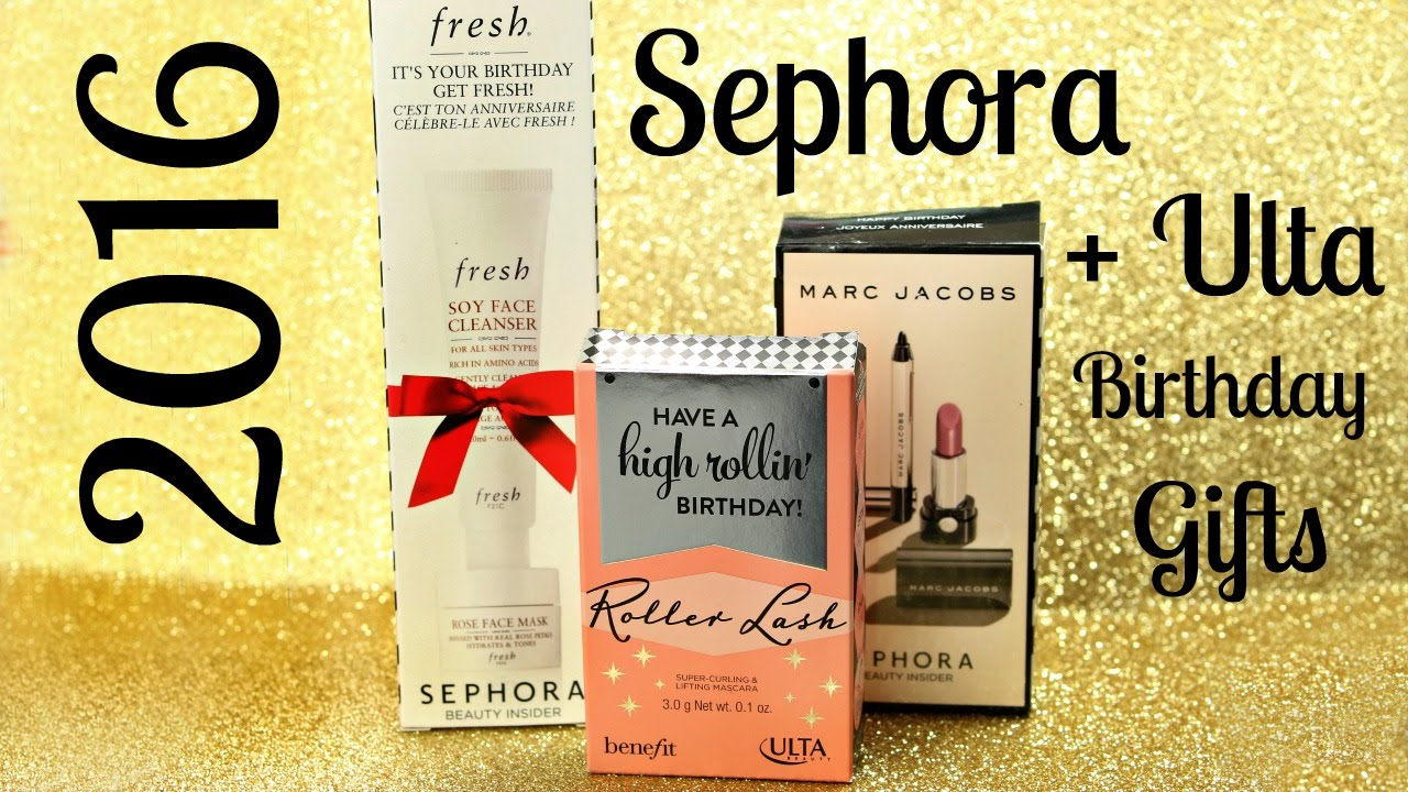 2016 Sephora + Ulta Birthday Gifts! - YouTube
