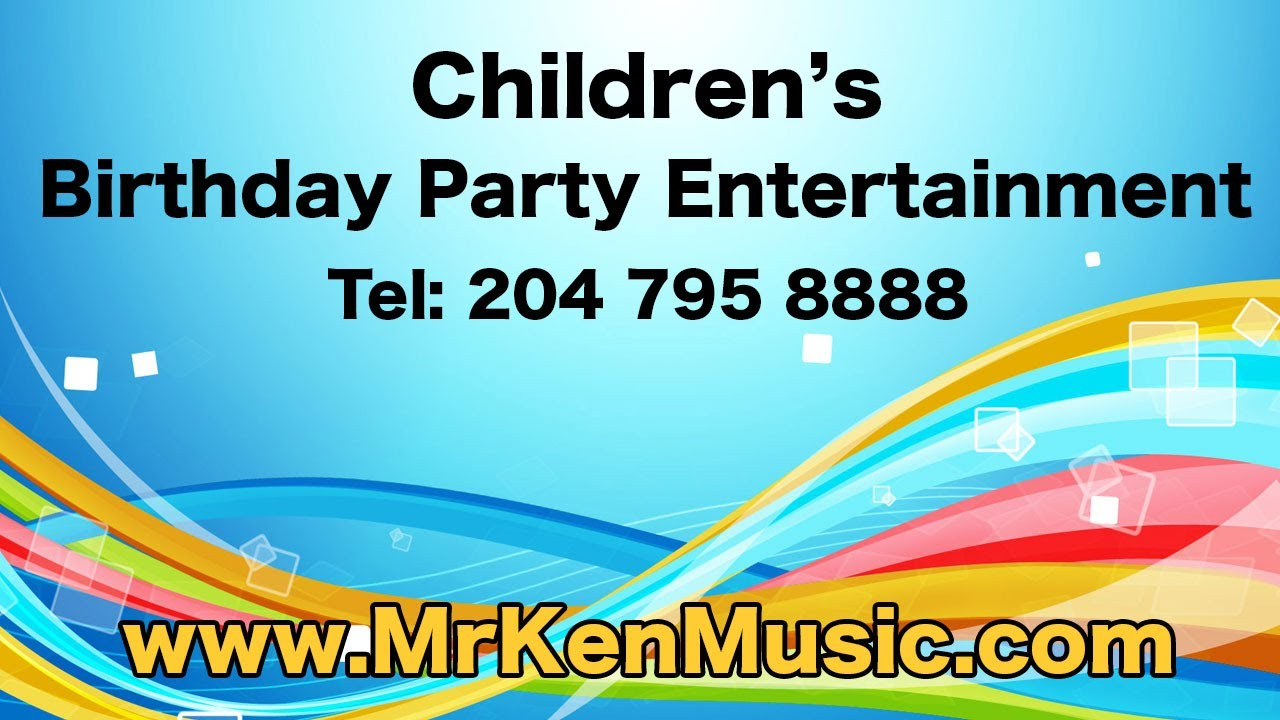 Childrens Birthday Party Entertainment Winnipeg YouTube