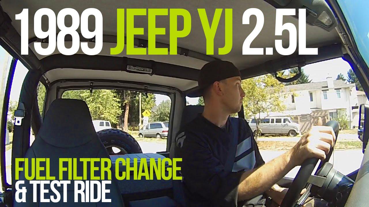 jeep yj 2 5l fuel filter change test ride [ 1280 x 720 Pixel ]