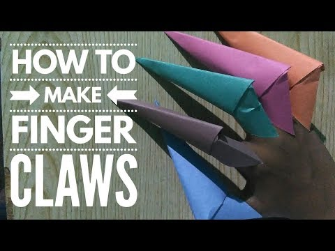 How to make a easy paper finger claws