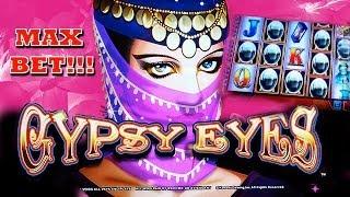Gypsy Eyes - MAX BET!! + RETRIGGER! - Slot Machine Bonus