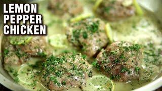 Easy Lemon Pepper Chicken Recipe | Chicken Recipe | Quick And Easy Chicken Starter | Varun Inamdar