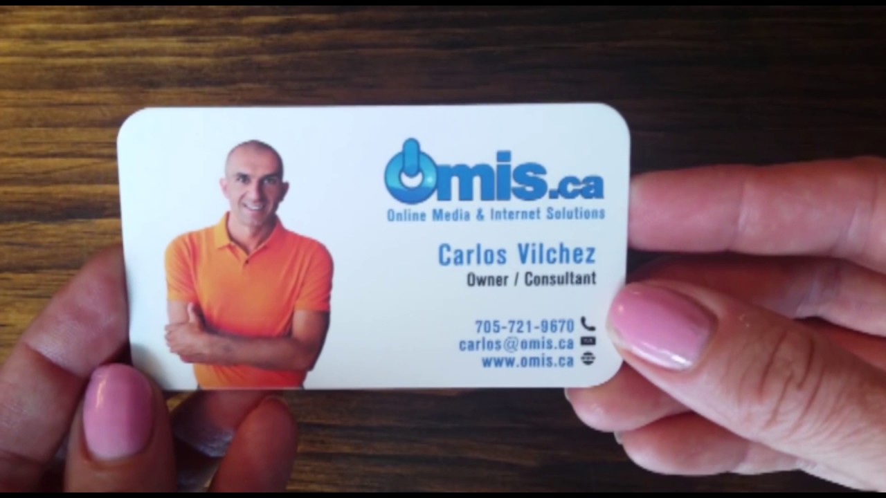 Business Card Design Sample - YouTube