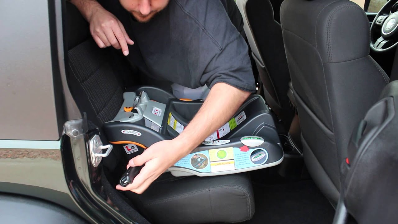 Chicco Key Fit 30 Car Seat - Install Jeep Wrangler - YouTube