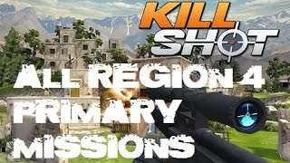 Kill Shot All Primary Mission Region 4 Walkthrough Gameplay