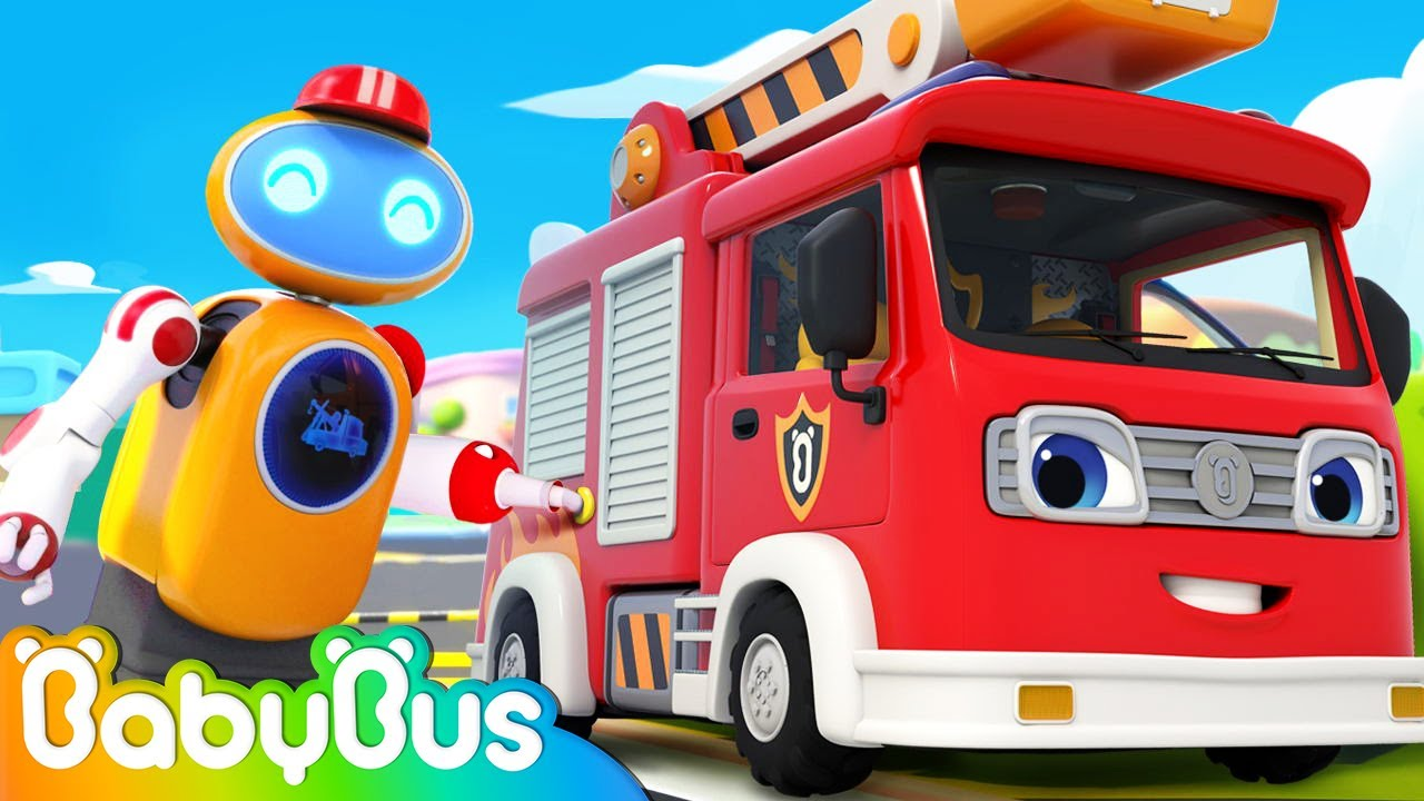 Fire Truck is Running out of Gas | Monster Cars, Police Car | Kids Cartoon | Nursery Rhyme | BabyBus