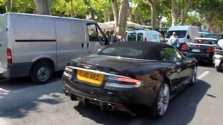 Aston Martin DBS Volante leaving Saint tropez (1080p HD)