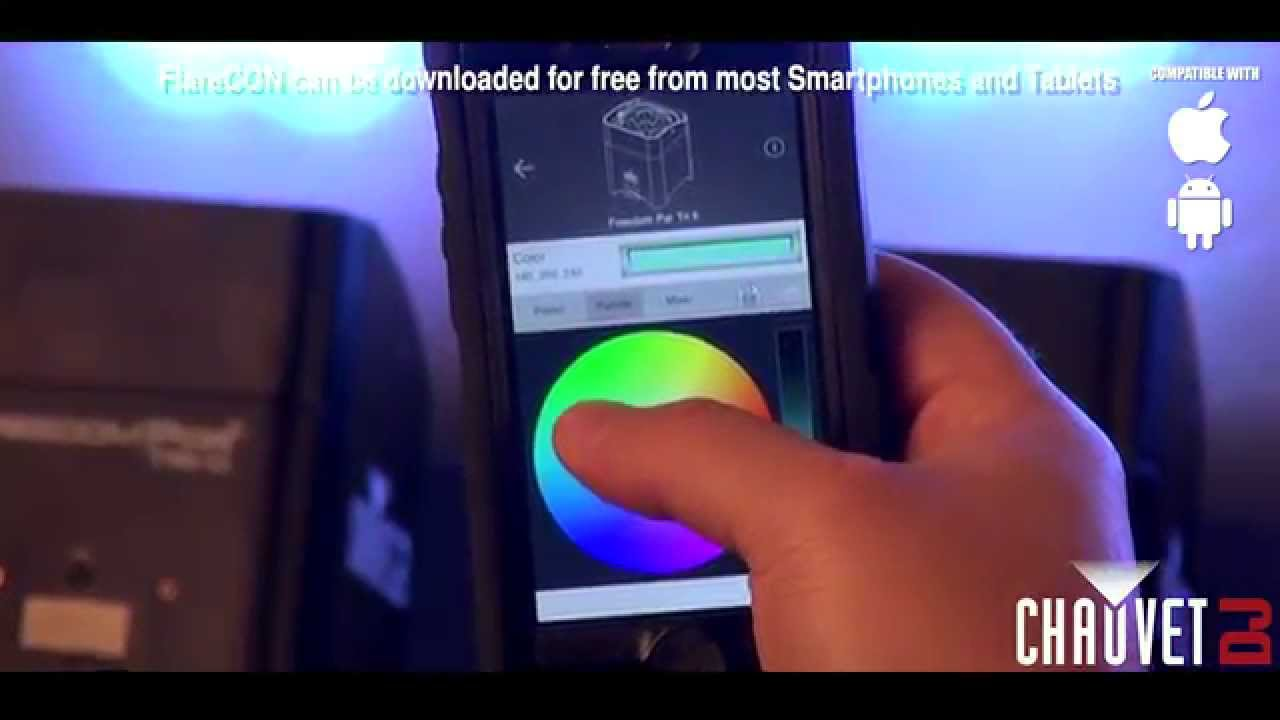 control lighting with ipad. CHAUVET DJ FlareCON- Wireless DMX Lighting Control From Smartphones - YouTube With Ipad