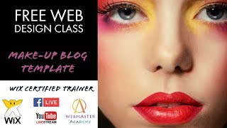 Make-Up Blog Template from Wix - Web Design - Tutorial
