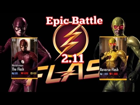Injustice!! 2.11 Metahuman Flash Vs Reverse Flash |All Super Moves| iOS|android