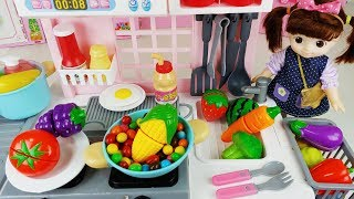 Baby Doll cooking kitchen toys refrigerator oven play story - ToyMong TV 토이몽