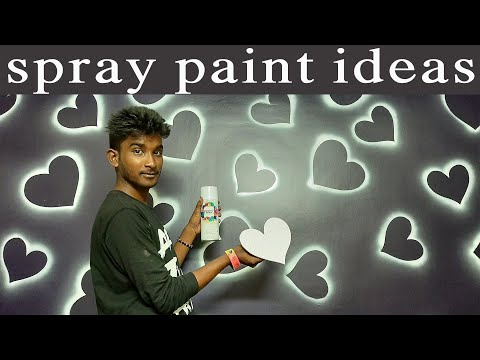 Easy & Creative DIY Wall Art Ideas and techniques with spray