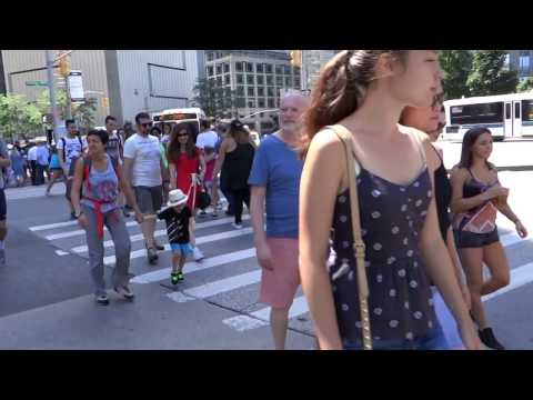 Walking to central park New York 2016