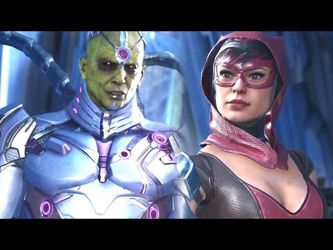 INJUSTICE 2 - BRAINIAC VS THE GIRLS ALL INTERACTION/INTRO DIALOGUES!