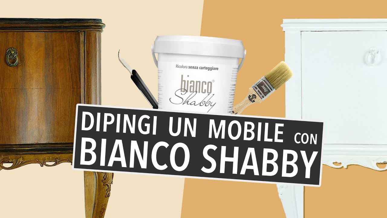 Dipingi Con Bianco Shabby Chalk Paint Senza Carteggiare Youtube