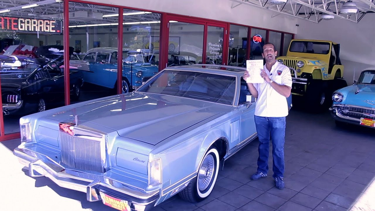 1979 Lincoln Continental Mark V Cartier Edition for sale with test