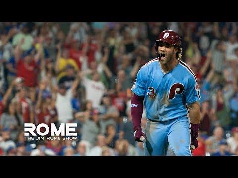 Bryce Harper HITS Grand Slam Walk-Off!   The Jim Rome Show