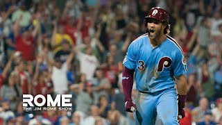 Bryce Harper HITS Grand Slam Walk-Off! | The Jim Rome Show