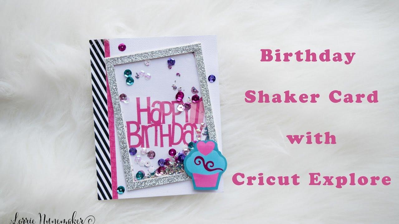 Shaker Card With Cricut Explore