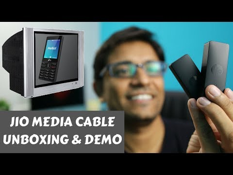 Jio Media Cable for Jio Phone 4G Unboxing & Jio TV Demo - PhoneRadar