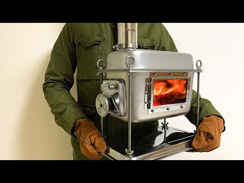 Powerful to Cook - Homemade Wood Stove for Camp M-Stove Project Part-1