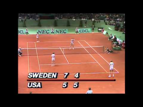 Davis Cup 1984 Final SWE vs USA Doubles  Edberg&Jarryd vs McEnroe&Fleming