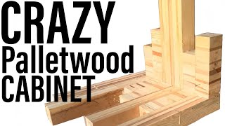 How to build a CRAZY pallet wood TV cabinet DIY