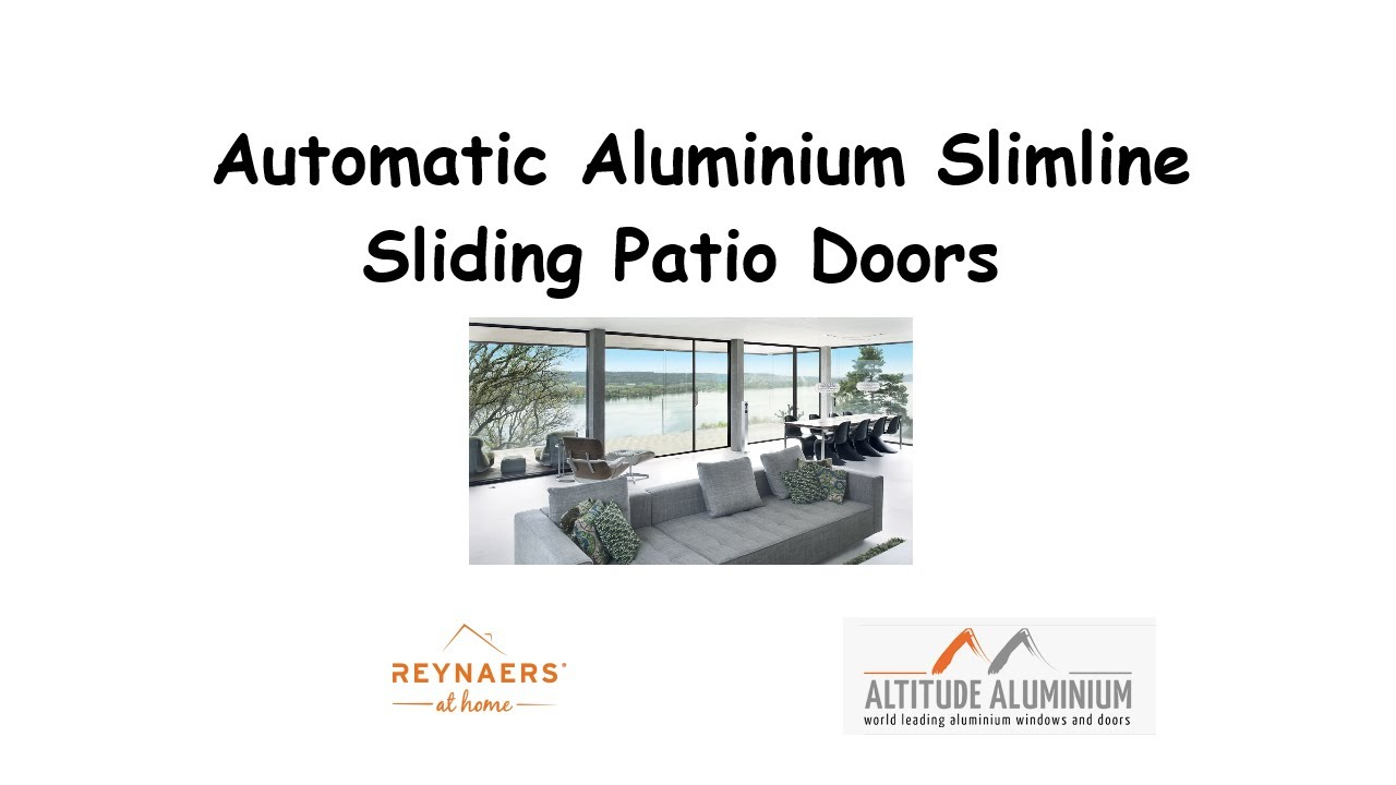 Automatic Aluminium Slimline Sliding Patio Doors Remote Control