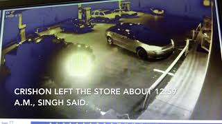 Surveillance footage shows shooting victim in store