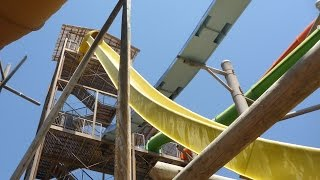 Western Park Magaluf - The Beast (Yellow Track) Extreme Speed Slide! Onride POV