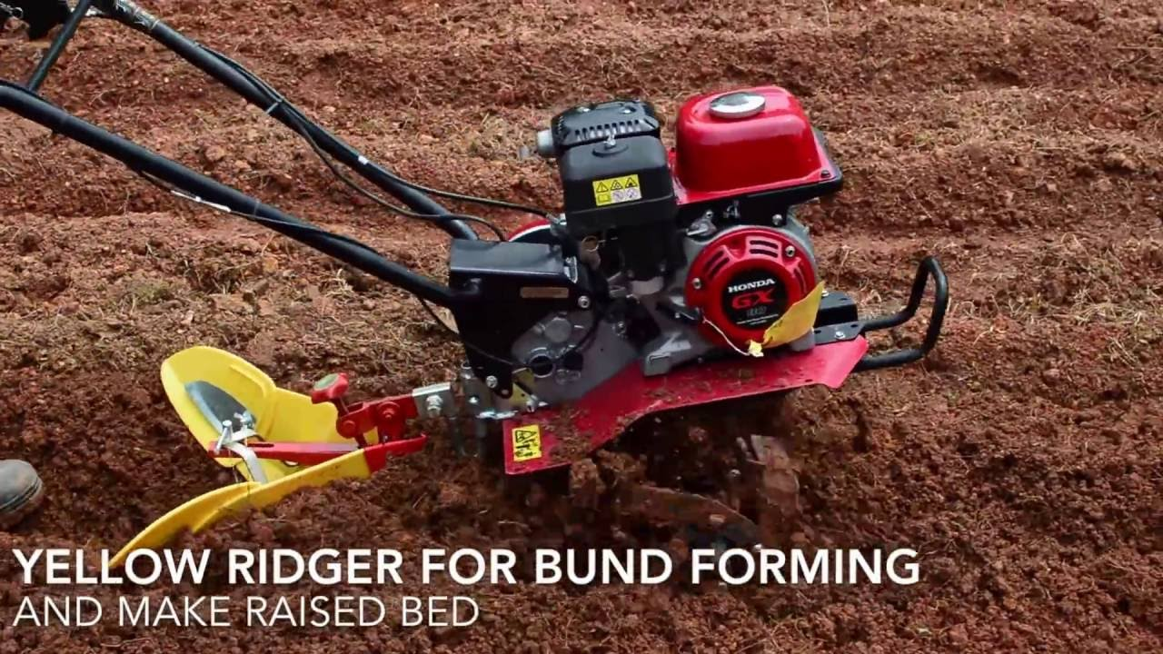 Honda F 300 Mini Tiller with Impliments - YouTube